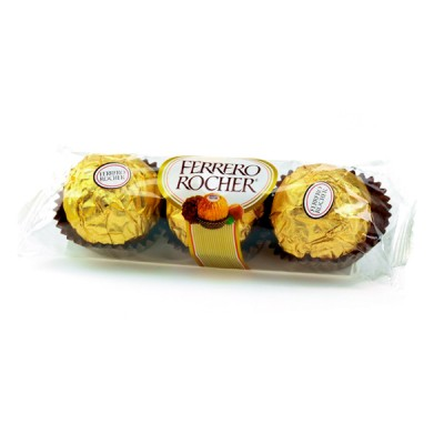 Chocolates Ferrero Rocher (03 bombones).