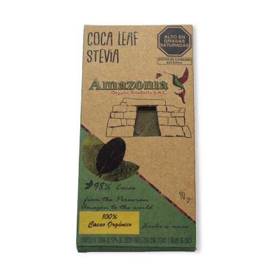Chocolate Coca Leaf Stevia Amazonía.