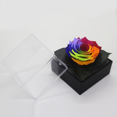 Caja con rosa  Arco Iris